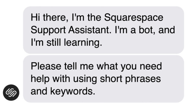 SquareSpace chatbot tone of voice